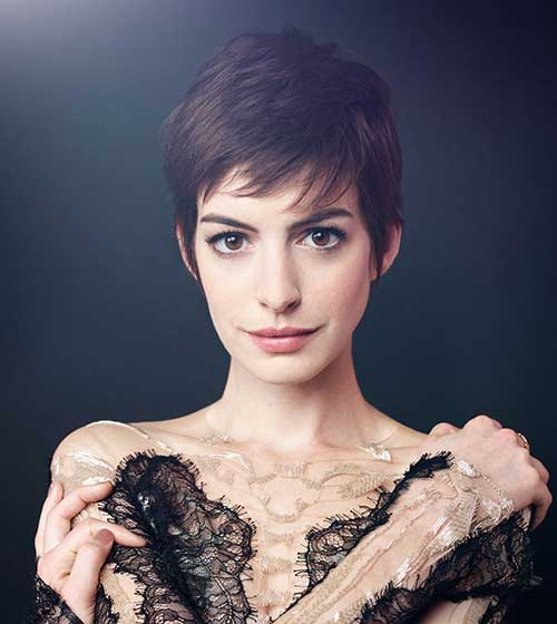 Anne Hathaway Pixie Cut Ideas