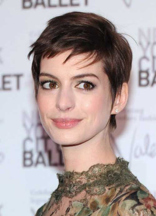 Anne Hathaway Spiky Pixie Cuts