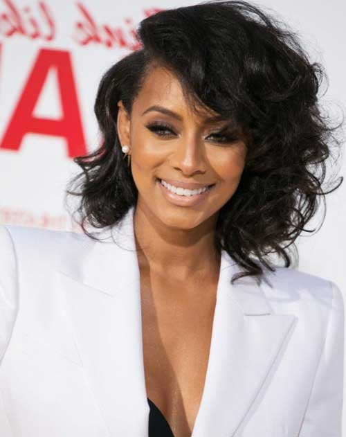 Asymmetrical Bob for Curly Thick Hair