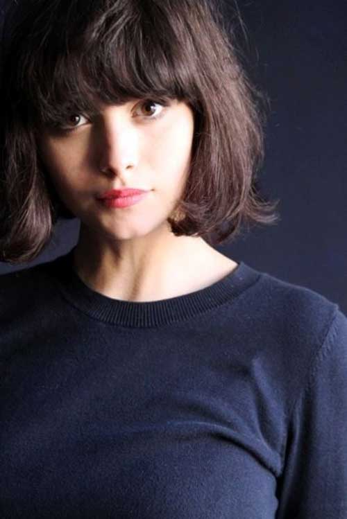 Best Blunt Bangs for Short Hair Ideas