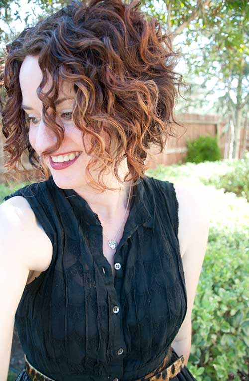 Best Cute Short Curly Hairstyles 2015