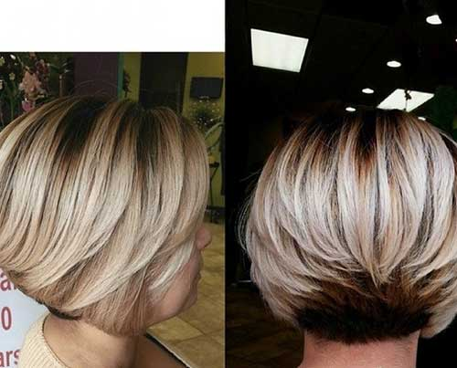 Best Layered Short Bob Back View 2014