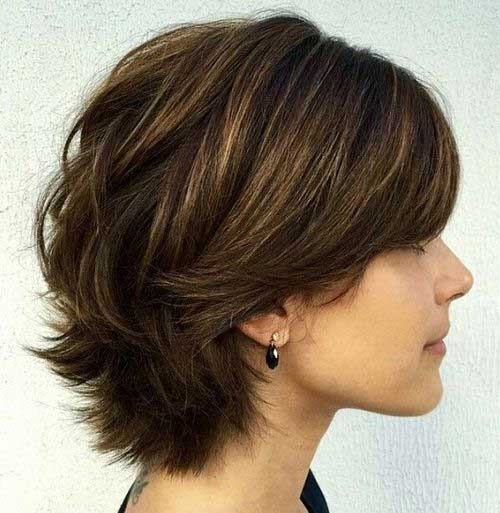 Best Layered Short Bob Side Look 2014