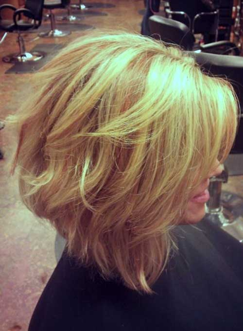 Best Layered Short Bob Side View Ideas 2014