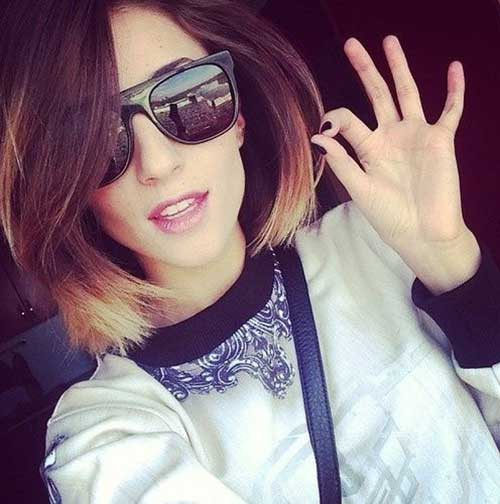 Best Ombre Colored Short Hair