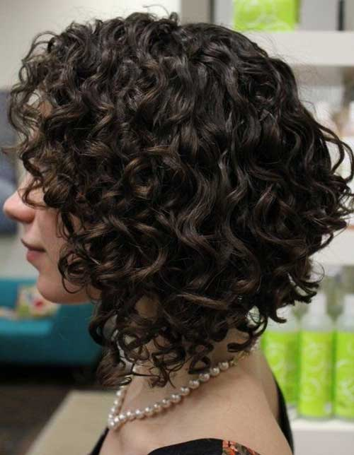 Best Short Curly Hair Cut for Brunettes