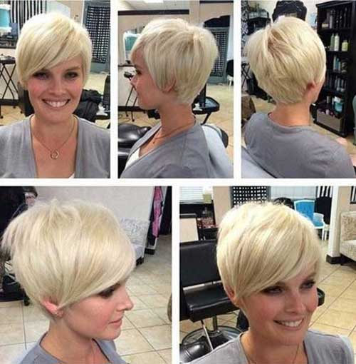 Best Short Layered Blonde Pixie Cut 2014