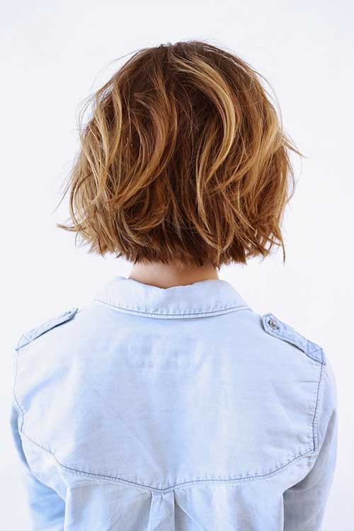 Best Short Layered Bob Back View 2014