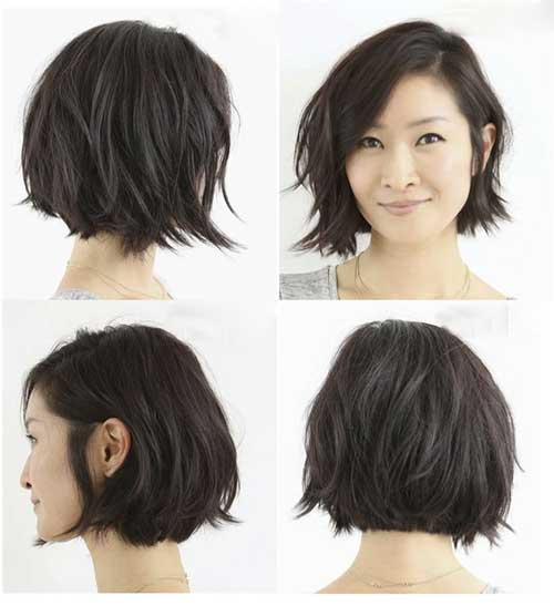 Best Short Layered Brunette Bob Haircuts 2014