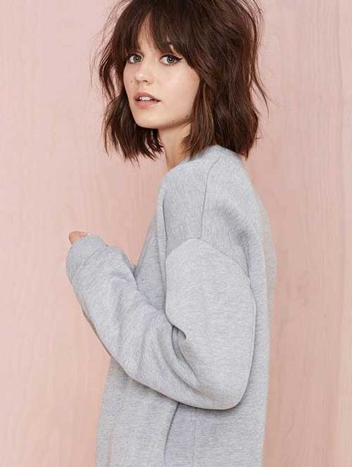 Best Short Layered Mid Length Bob 2014