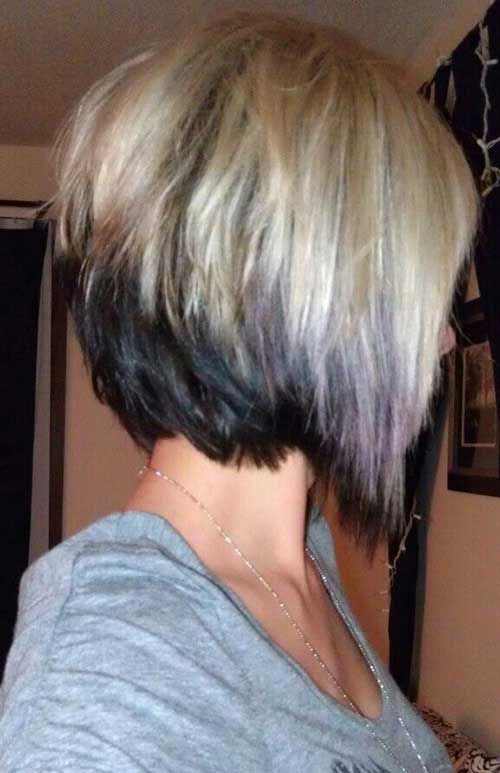 Best Two Colored Hair for Short Cutted Hairdo