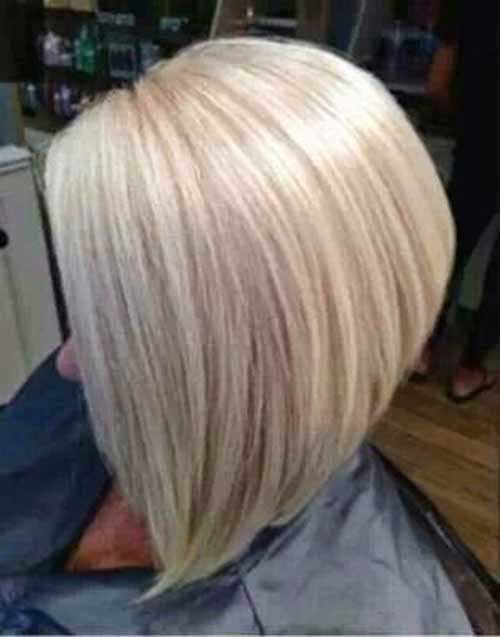 Bleach Blonde Inverted Bob
