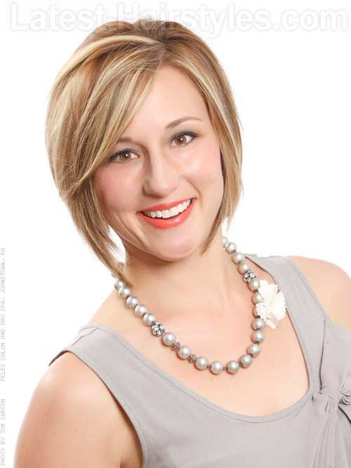 Blonde Chin Length Layered Bob Cut