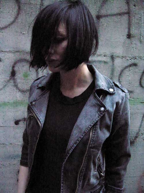 Blunt Bob Haircuts with Bangs for Short Hair
