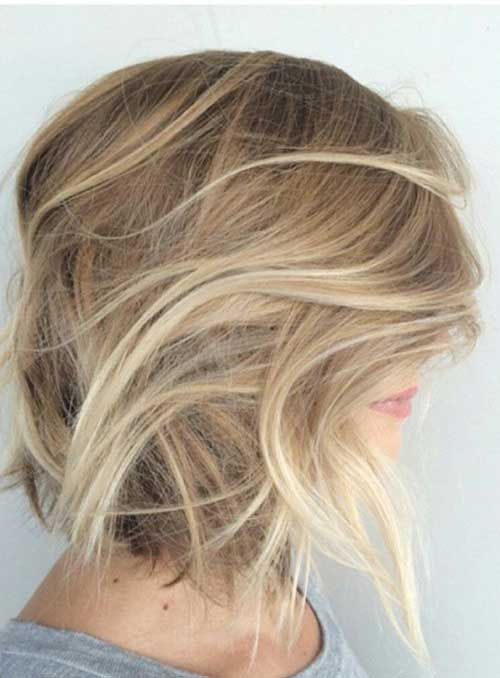 Blonde Bob Haircut with Ombre