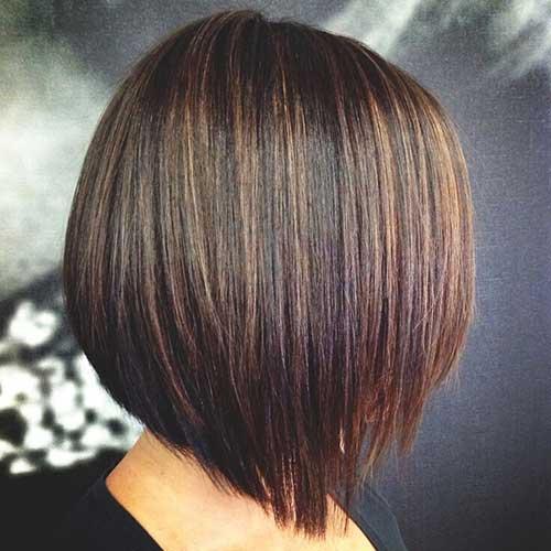 Straight Bob Haircuts with Brown Highlights