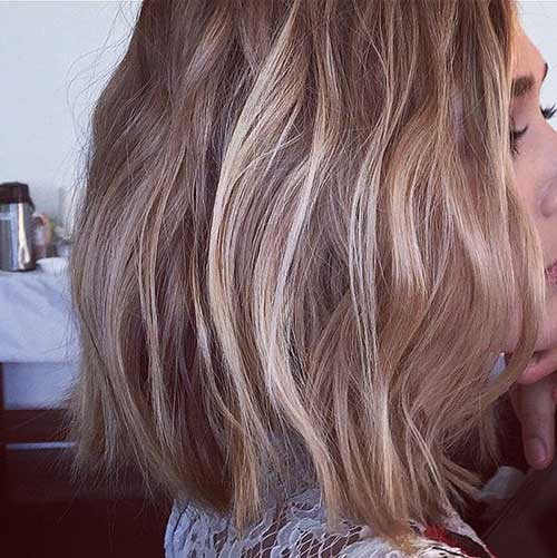 Elizabeth Olsen Brown Bob Haircuts