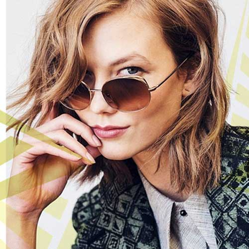 Brown Wavy Bob Cut for Short Hair Ideas