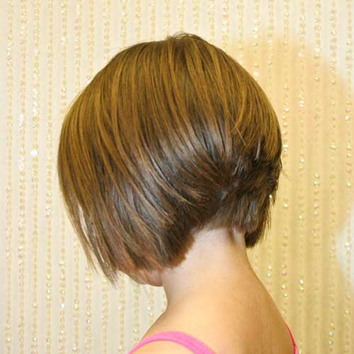 Casual Short Stacked Bob Haircuts
