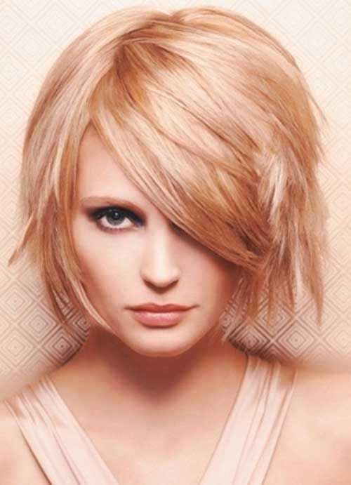 Blonde Chin Length Layered Bob Hairstyles