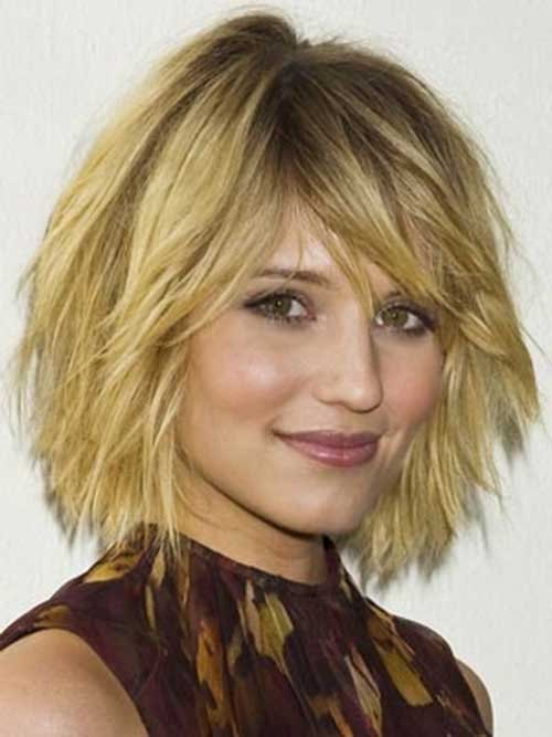 Chin Length Layered Choppy Bob Hair
