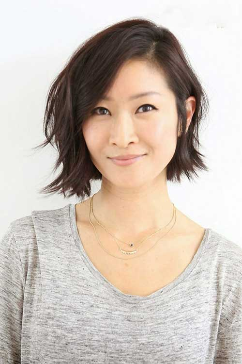 Chin Length Layered Dark Bob Ideas