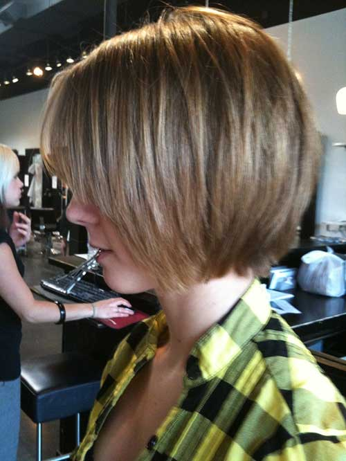 Chin Length Layered Fine Bob Cut