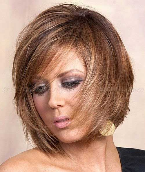 Chin Length Layered Straight Bob Hair