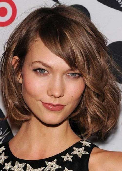 Chin Length Layered Wavy Bob Hairstyles