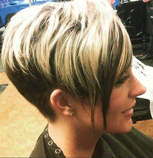 Cool Short Hair Women Side View