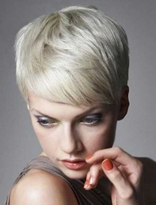 Cool Short Pixie Platinum Hair Style