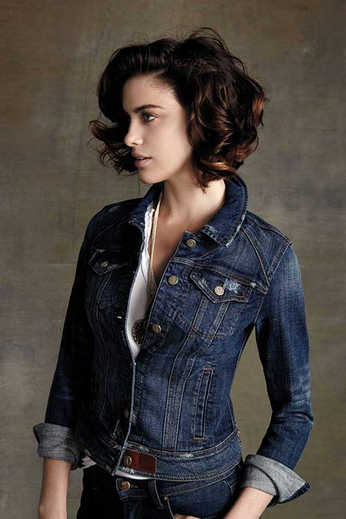 Curly Dark Bob Hairstyles for Women