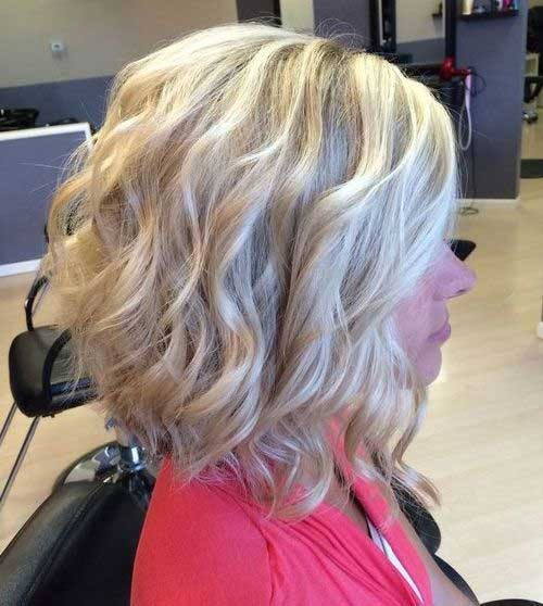 Curly Short Blonde Hairstyles Ideas 2015