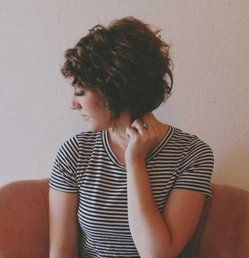 Curly Short Dark Bob Hairstyles