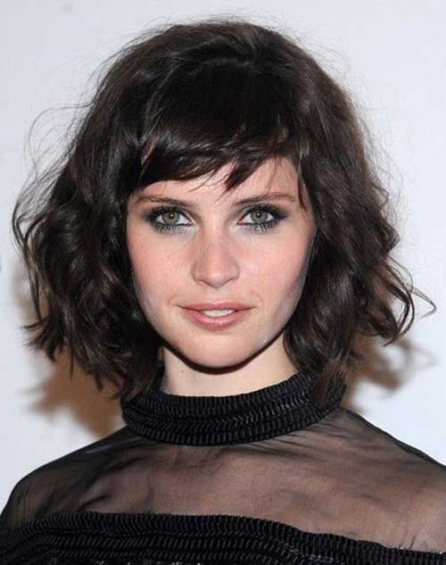 Curly Short Hairstyles with Bangs 2015