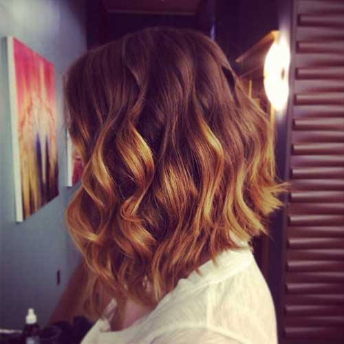 Curly Short Long Bob Hairstyles 2014