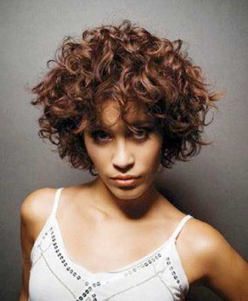 Cute Curly Short Hairstyles 2015