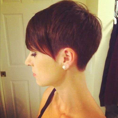 Cute Dark Short Hair Side View 2014