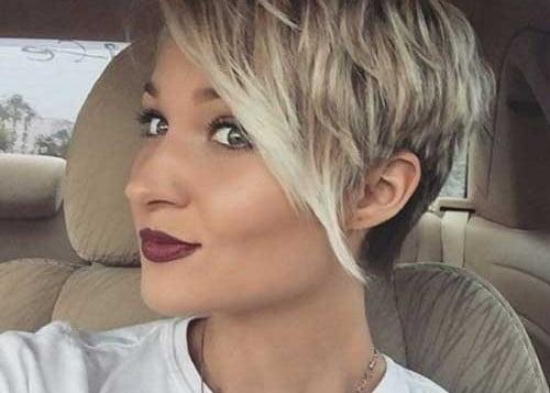 Cute Girl Hairstyles for Short Hair Long Bangs