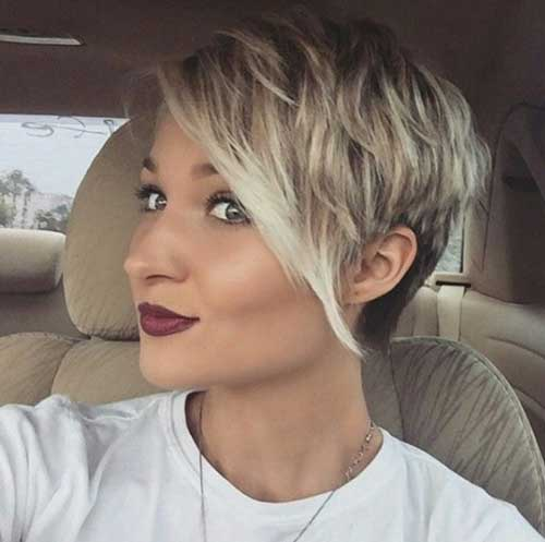 Cute Girl Hairstyles for Short Hair Long Bangs