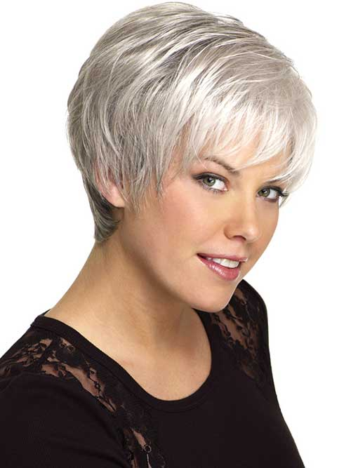 14 short hairstyles for gray hair short hairstyles 2017 2018 most popular short hairstyles. Black Bedroom Furniture Sets. Home Design Ideas