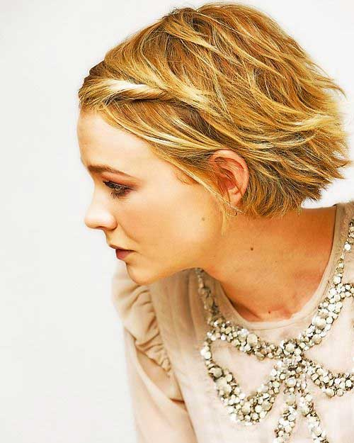 Cute Short Blonde Hair Side View 2014