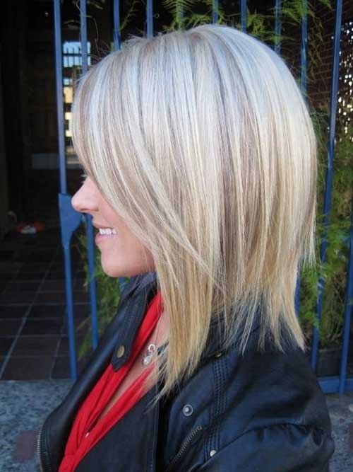 Cute Short Blonde Layered Hair Cut 2014