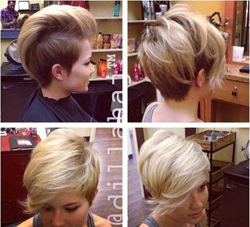 Cute Short Blonde Side Shaved Haircuts 2014