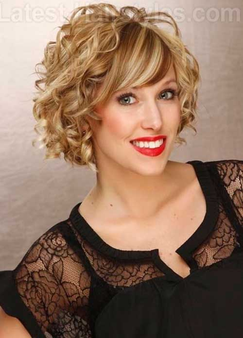 Cute Short Curly Blonde Bob Hair