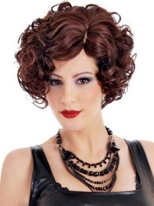 Cute Short Curly Brown Hairstyles
