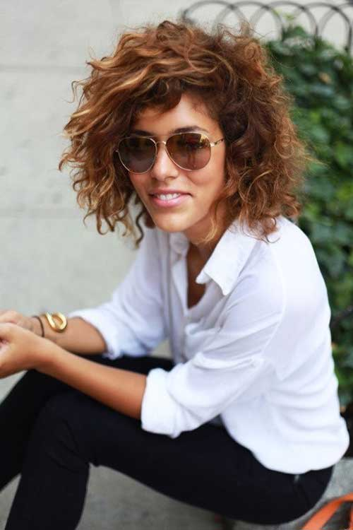 Cute Short Curly Hair Idea 2014-2015