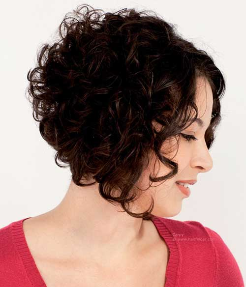 Cute Short Curly Hair Side View Look