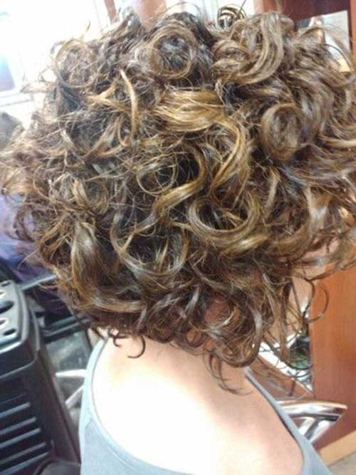 Cute Inverted Short Curly Hair