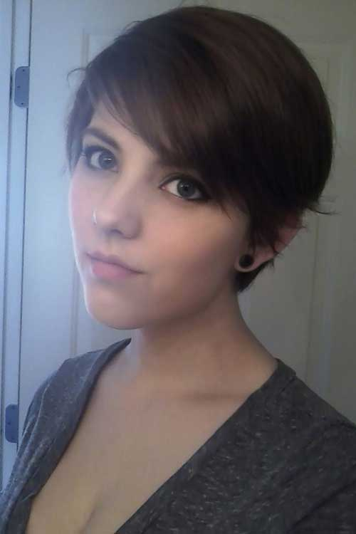 Cute Short Fine Pixie Cuts Ideas for Girls